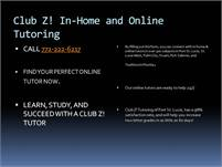 Club Z! In-Home and Online Tutoring of Port St. Lu Club Z!  Online Tutoring